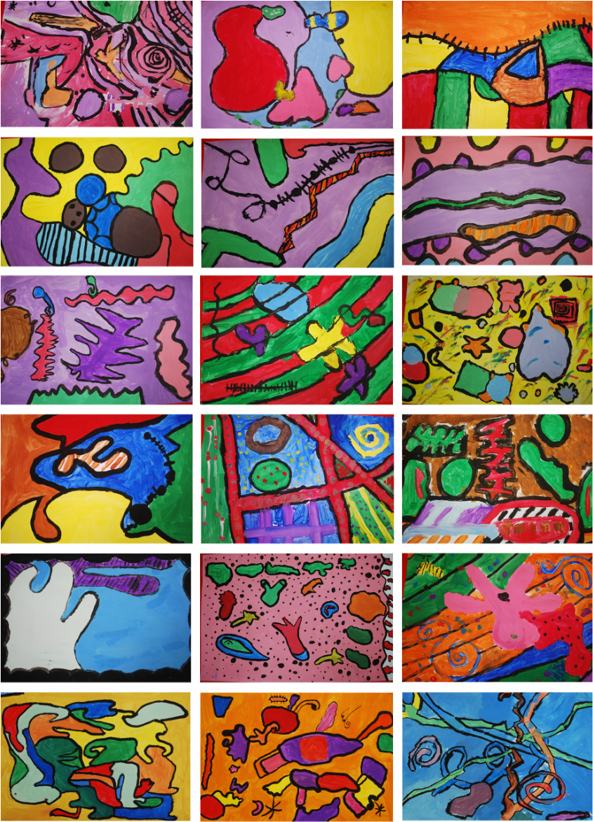 Abstract Expressionism 3rd Grade Art Project