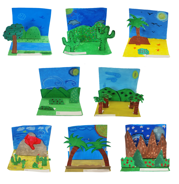 3D Landscapes 2rd Grade Art Project