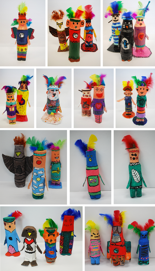 Paper Mache Kachina Dolls 5th Grade Art Project