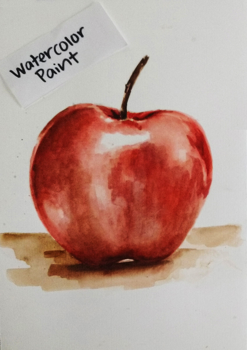 Apple watercolor painting. Sakura Koi watercolor set on Cold Press 140 lb. Art-n-Fly watercolor paper.