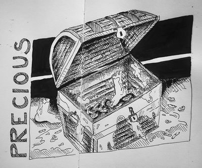 Sketch for Inktober prompt: Precious by Erika Lancaster