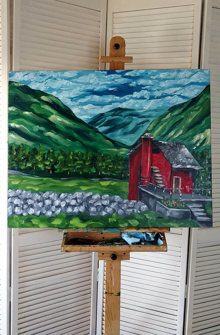 Landscape oil painting by Erika Lancaster