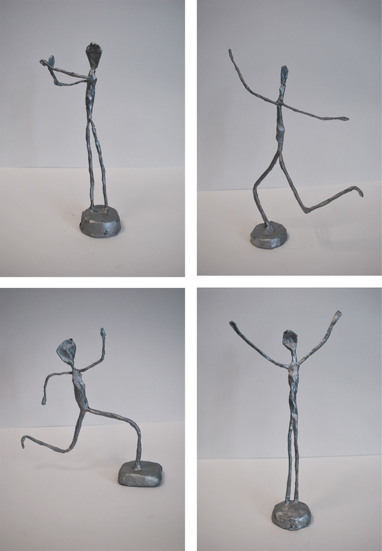 Giacometti-Inspired Wire Sculptures 9th Grade Art Project