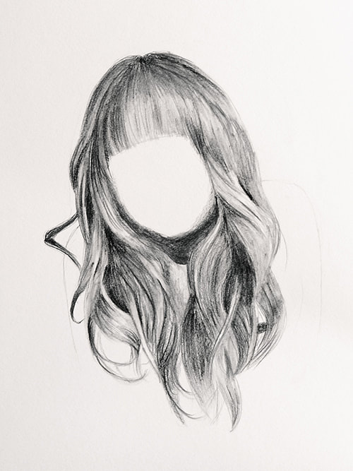 How to draw hair realistically tutorial for beginners