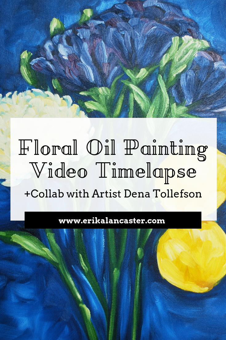 Floral Oil Painting Video Process