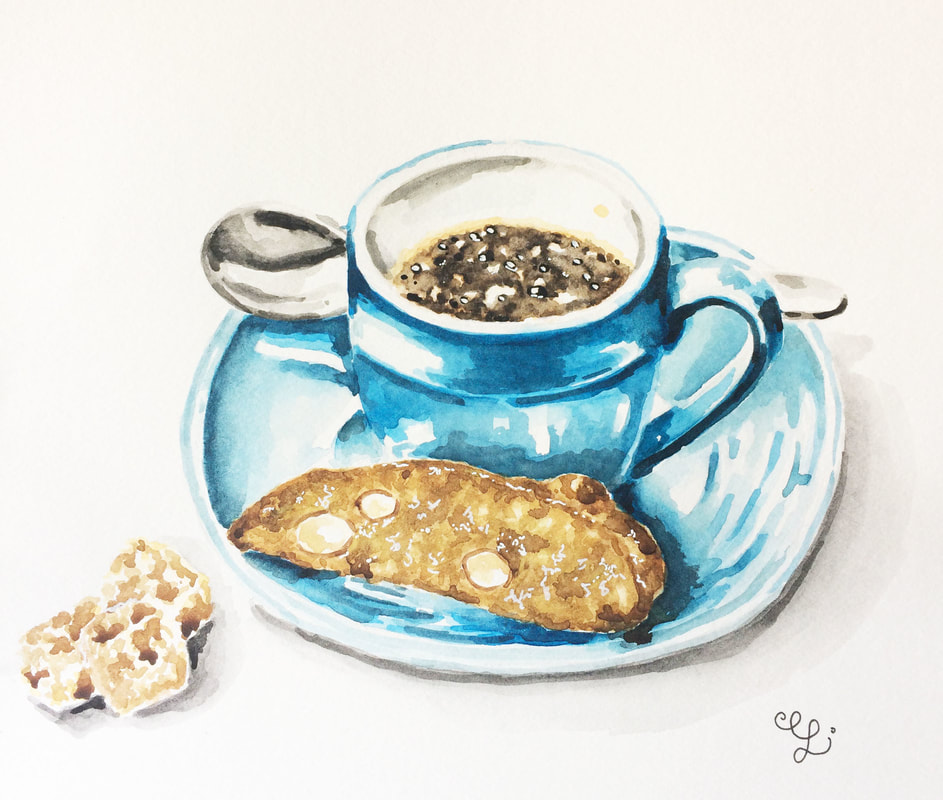 Watercolor food illustration by Erika Lancaster