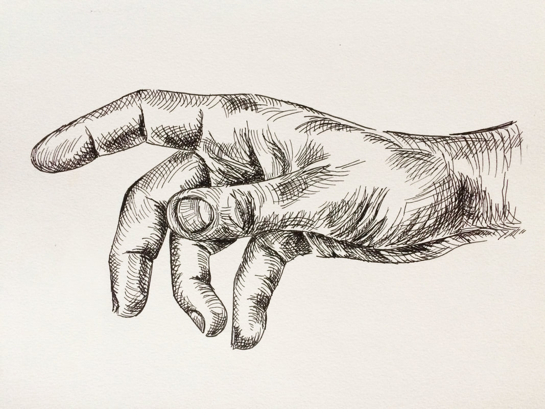Final pen and ink hand drawing