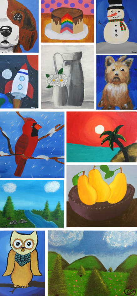 Acrylic Painting on Canvas 2nd to 5th Grade Art Projects