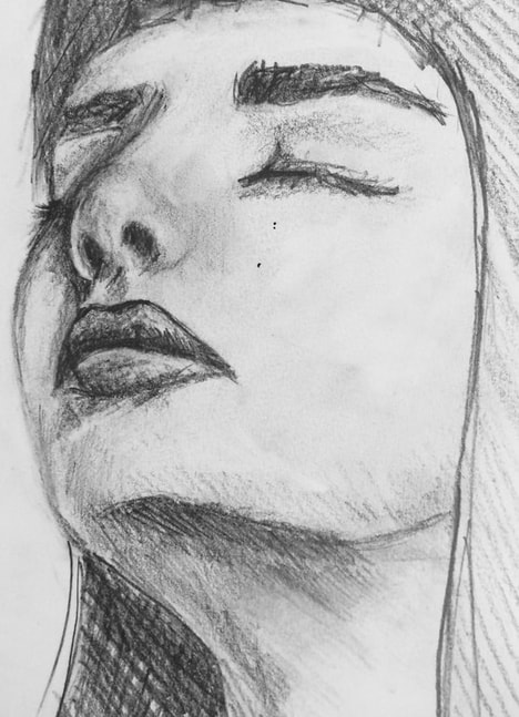 Portrait sketch by Erika Lancaster
