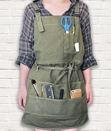 Gifts for artists- Artist Canvas Unisex Apron with Pockets