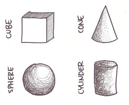 Drawing 3D Geometric shapes