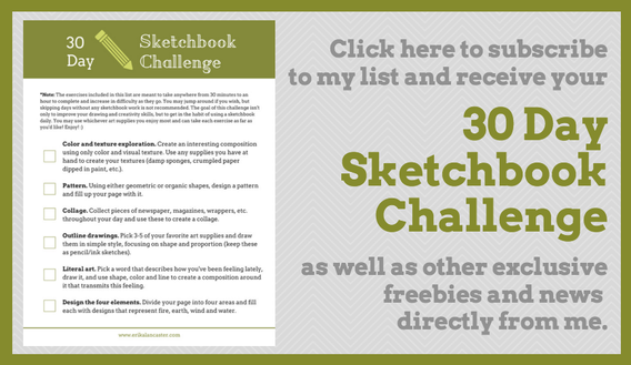 30 Day Sketchbook Challenge