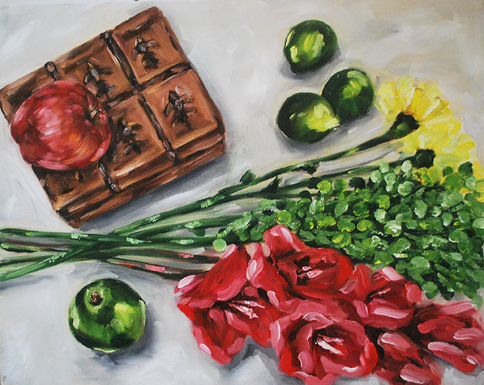 Still life oil painting by Erika Lancaster
