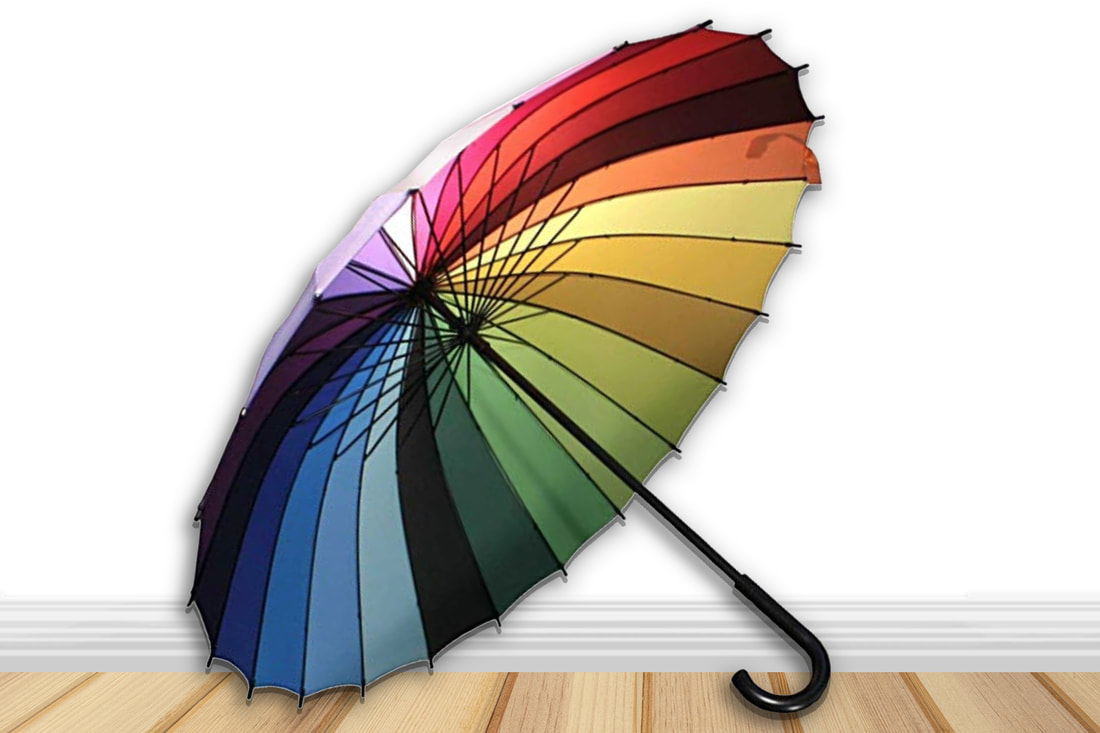 Gifts for artists- Color Wheel Umbrella
