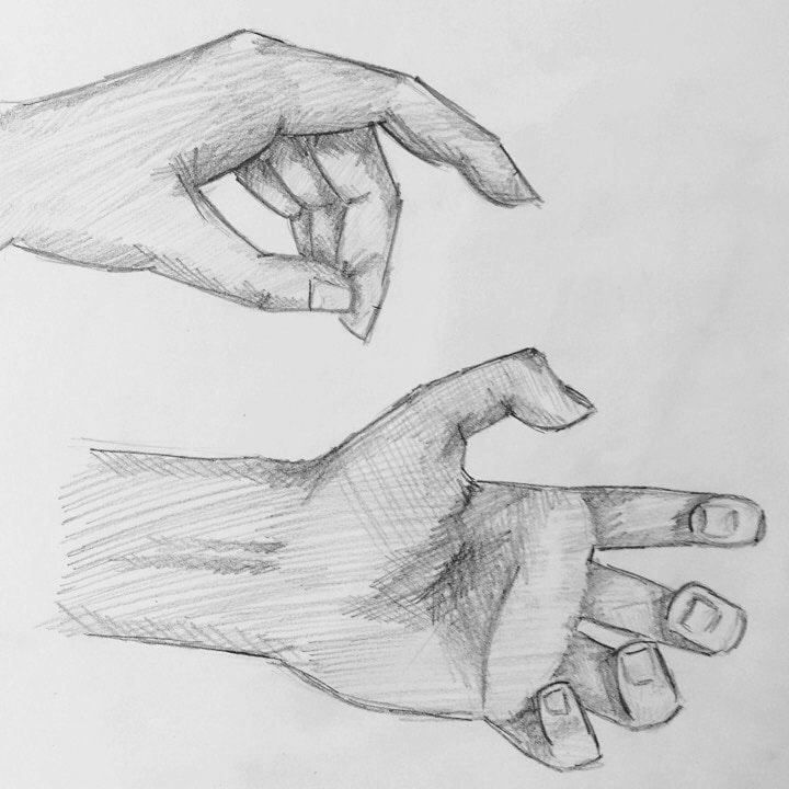 Hand pencil sketches by Erika Lancaster