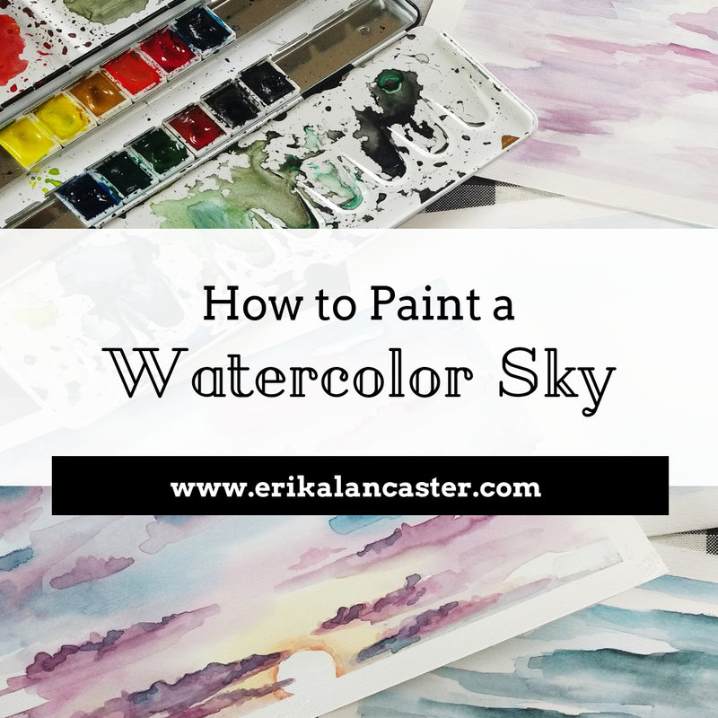 How to Paint a Watercolor Sky