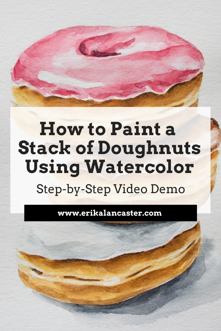 Watercolor How to Paint Doughnuts Realistically