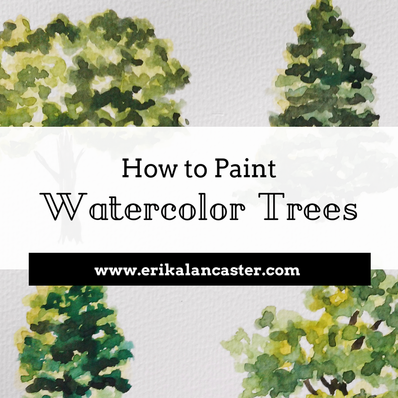 How to Paint Watercolor Trees