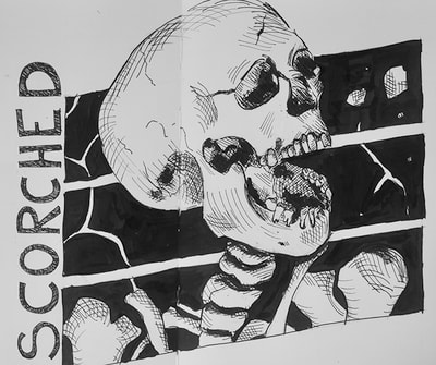 Inktober sketch 19: Scorched
