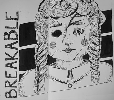 Inktober sketch 20: Breakable