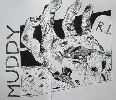 Inktober sketch 23: Muddy