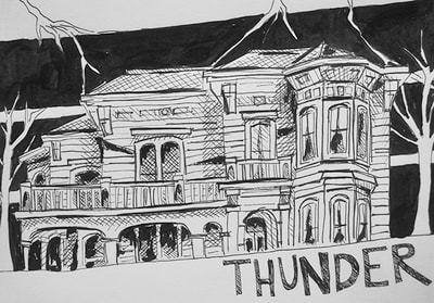 Inktober sketch for prompt: Thunder by Erika Lancaster