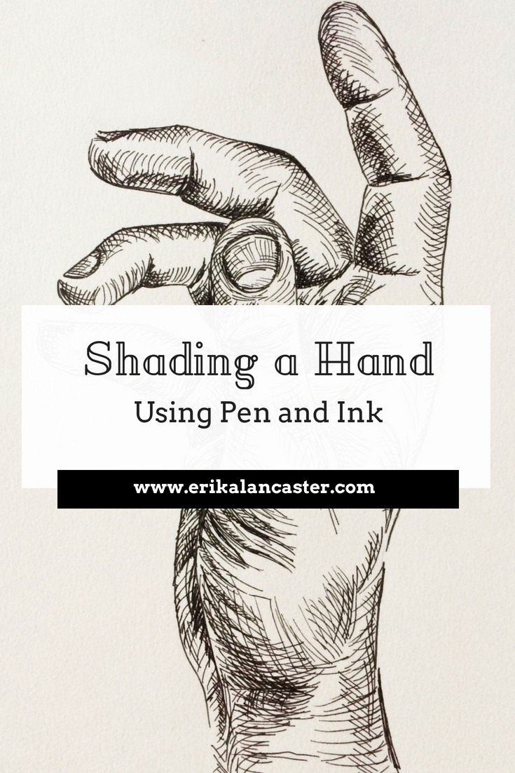 Shading a Hand Using Pen and Ink