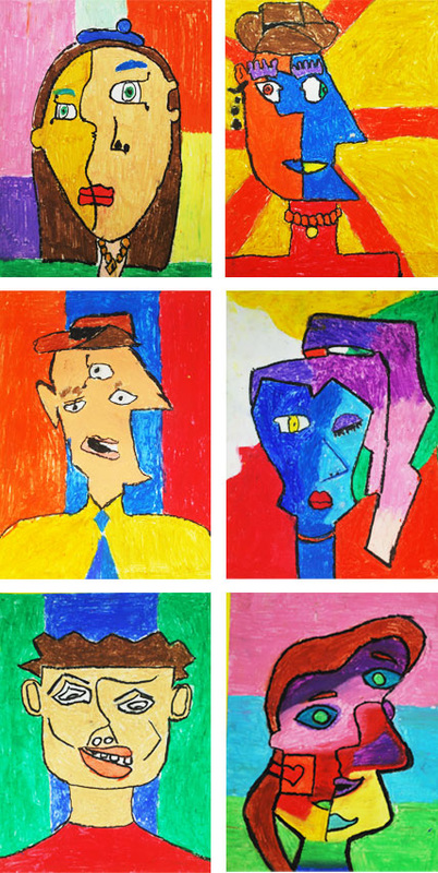 Picasso-Inspired Portrats 5th Grade Art Project