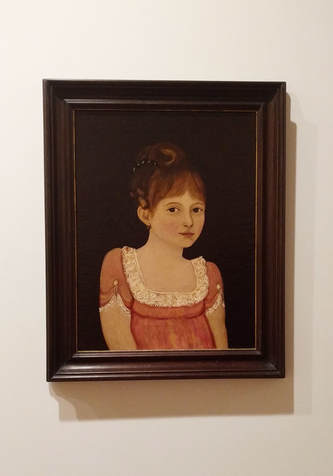 Portrait of Marie-Melanie Quesnel by Canadian School c. 1810