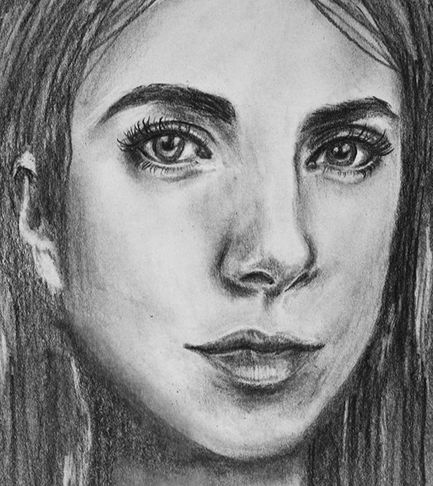 Portrait drawing by Erika Lancaster