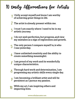 10 Daily Affirmations for Artists