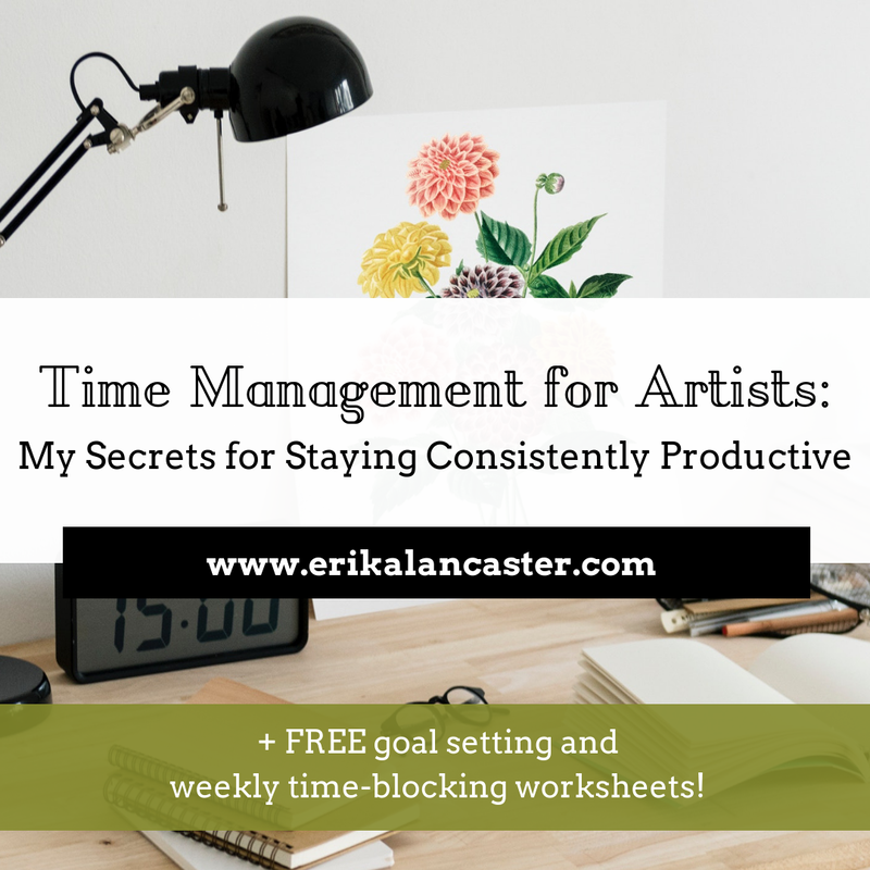 Time Management for Artists Tips and Goal Setting Worksheets