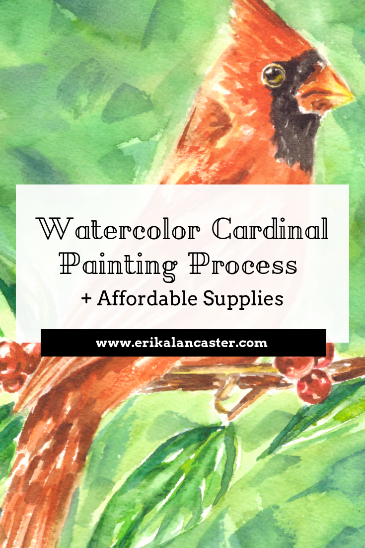 Bird Watercolor Painting Process Affordable Supplies