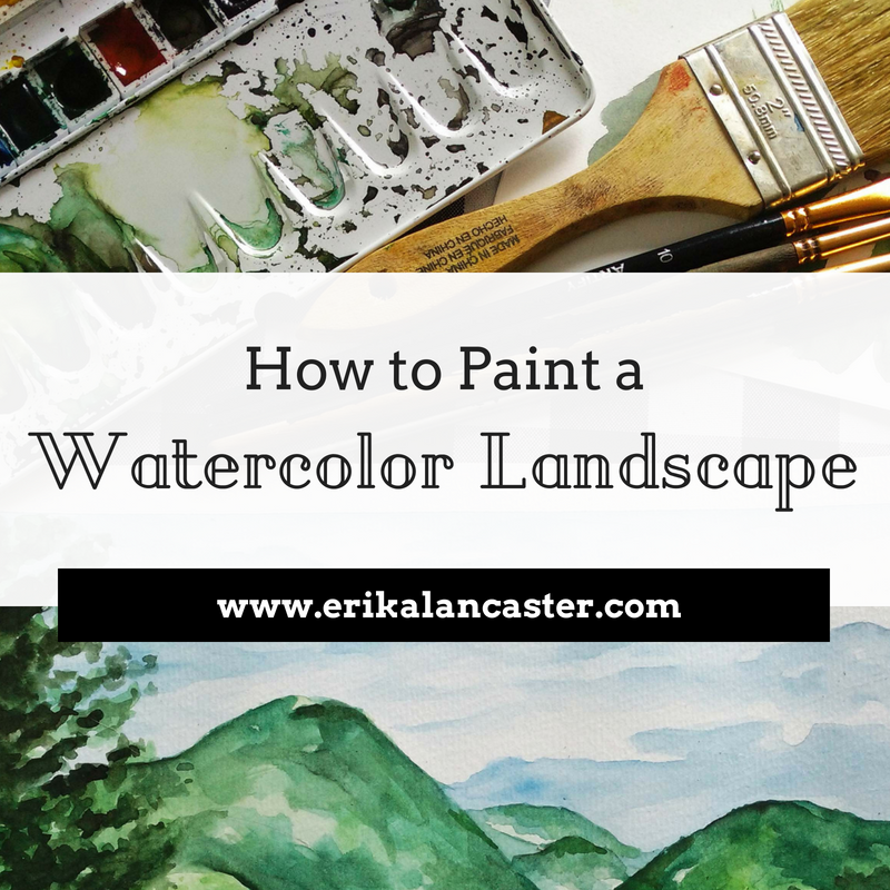 How to Paint a Watercolor Landscape