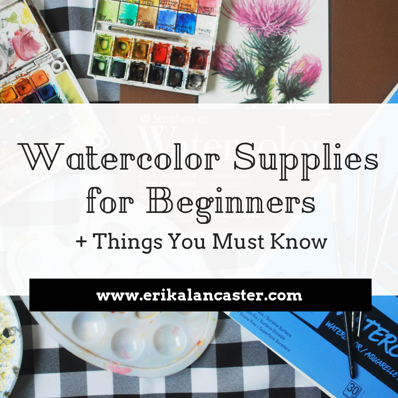 Watercolor Supplies for Beginners and Tips